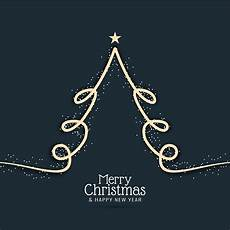 abstract decorative merry christmas with modern tree download free vectors clipart graphics