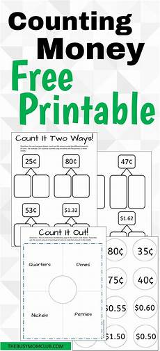on counting money activity templates free