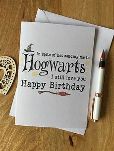 personalised birthday card parents harry potter