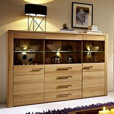 highboard pure sideboard wohnzimmer kernbuche inkl led