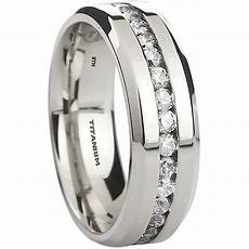mens titanium wedding band ring