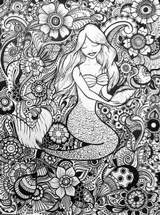 coco design art one day mermaid coloring pages