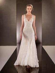 V Neck Lace Wedding Gown