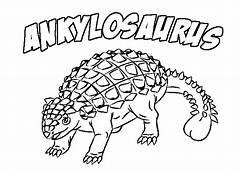 Ankylosaurus Coloring Page & Book For Kids