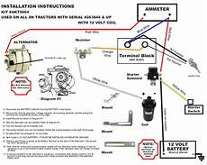 Wiring Diagram For 12 Volt Conversion Of Alternator On Ferguson To 30 by New Generator Alternator Fits Conversion Kit Late Model