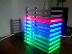 rgb led vu meter tower youtube