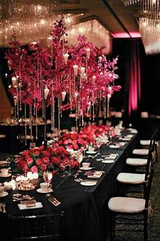black white and fuchsia wedding ideas pink and black wedding decor ideas wedding centerpiece 1796527 weddbook