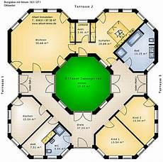 atrium bungalow grundrisse bungalow oktaeder mit atrium 163 27 bungalow