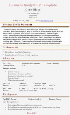 personal profile cv exles