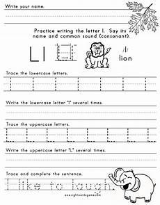 letter l sound worksheets 24492 the letter l