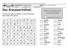 german ks2 level 2 colours word search by