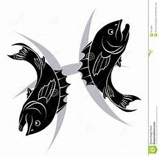 pisces zodiac horoscope astrology sign stock vector
