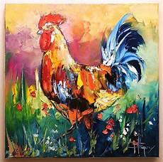 Le Coq Tableau Peinture Huile Sur Toile Painting