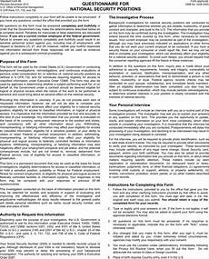download questionnaire for national security for
