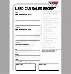 receipt of sale for car template