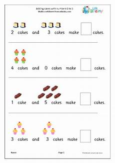 addition worksheets reception 9020 addition from 0 to 5 cakes addition maths worksheets for later reception age 4 5