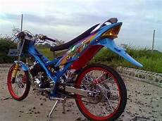 Modifikasi Fu by Modifikasi Suzuki Satria Fu 150 Warna Biru Cantik Chrome