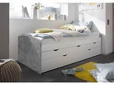 kinder funktionsbett kinder funktionsbett in beton wei 223 liegefl 228 che 90 x 200