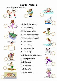 sports worksheets for esl students 15722 sports matching esl worksheets for distance learning and physical classrooms