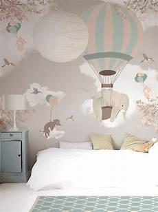 tapete kinderzimmer neutral wallpaper mural falling on behance