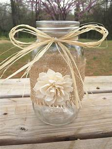 shabby chic rustic wrapped mason jar rustic by countrybarnbabe