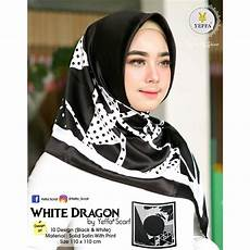 Jilbab Motif Hitam Putih Terbaru Jilbab Terbaru