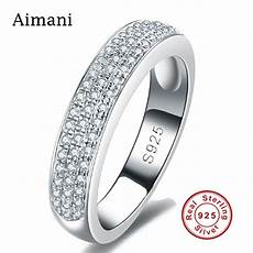 luxury jewelry 100 pure silver rings cz diamond full paved engagement rings 925 sterling silver