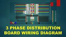 3 phase distribution board wiring diagram youtube