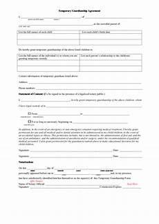 temporary guardianship agreement printable pdf download