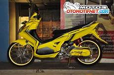 Modifikasi Nouvo Z by Foto Modifikasi Yamaha Nouvo Z 2005 Kuning Mentereng