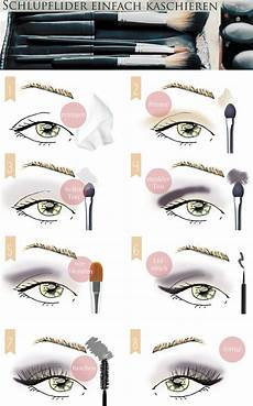 Augen Make Up Schlupflider - make up tutorial schlupflider kaschieren augen gr 246 223 er