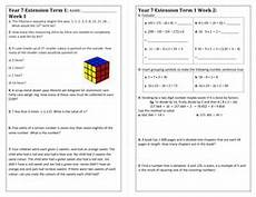 worksheets for year 7 18593 maths extension homework sheet year 7 teaching resources