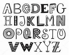 Malvorlagen Buchstaben Lustig Handgezeichnetes Fantasie Alphabet Lustige Doodle