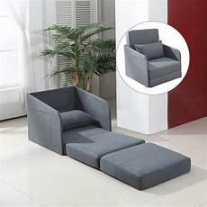 chair futon homcom single chair bed grey futon cushion lounger set
