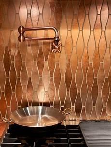 Copper Tiles For Kitchen Backsplash Stunning Copper Backsplash For Modern Kitchens