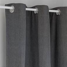 rideau 224 œillets en coton gris beige 224 l unit 233 140x270