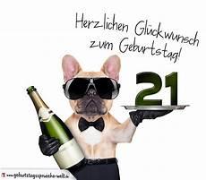 Gl 252 Ckwunschkarte Mit Hund Zum 21 Geburtstag