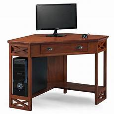home office corner desk furniture leick furniture corner computer desk in oak 82431