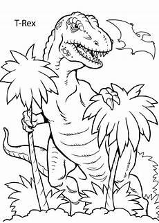Ausmalbilder Dinosaurier Rex Ausmalbilder Dinosaurier Rex Genial Kleurplaat Printable T