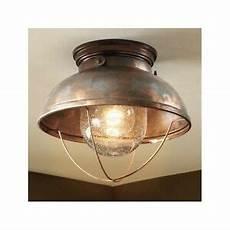 rustic outdoor ceiling light fixture weathered copper indoor lighting ebay
