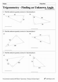 trigonometry 1 practice questions solutions by transfinite teaching resources tes