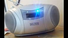 welltech 40109 cd mp3 radio from lidl