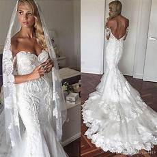 mermaid wedding dresses 2017 new sexy off shoulder lace appliques plus size backless chapel