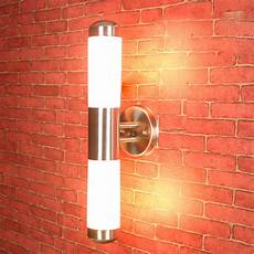 contemporary led wall light l stainless steel outdoor