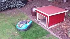 garage mit garage f 252 r m 228 hroboter mit schwingtor garage automower
