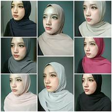 Jilbab Pashmina Bahan Chiffon Voal Motif