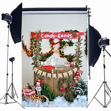 5x7ft Tree Small Bell Photography by 5x7ft Tree Snow Lights Flags Canned