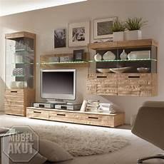 Moderne Massivholzmöbel In Eiche - wohnwand i anbauwand schrank fronten in eiche