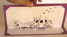 pop up cinderella carriage card template origamic architecture pop up cinderella coach