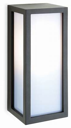 exterior box wall light with opal diffuser